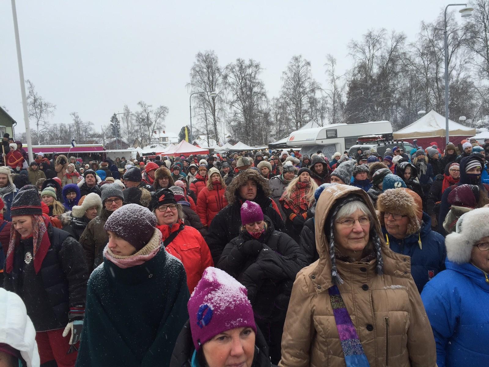 Det var flere hundre som feiret samenes nasjonaldag i Jokkmokk.