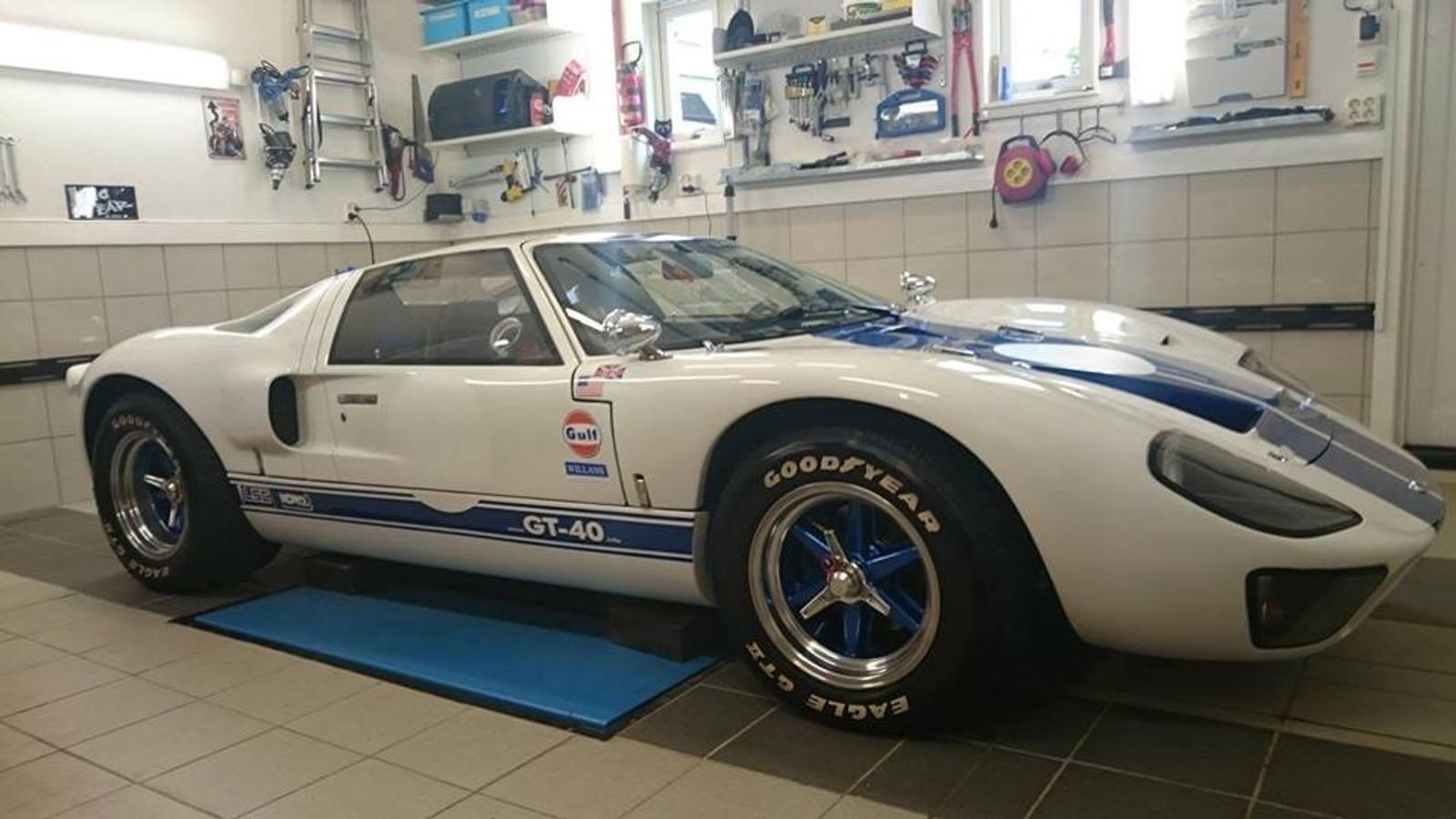 De fleste bilene under showet i Trondheim kommer fra 50-, 60- og 70-tallet. Her er én av to Ford GT-40 som skal stilles ut.