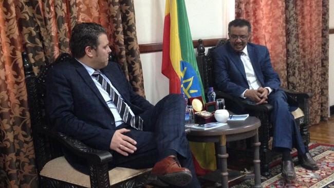 Kallmyr i samtale med Etiopias utenriksminister