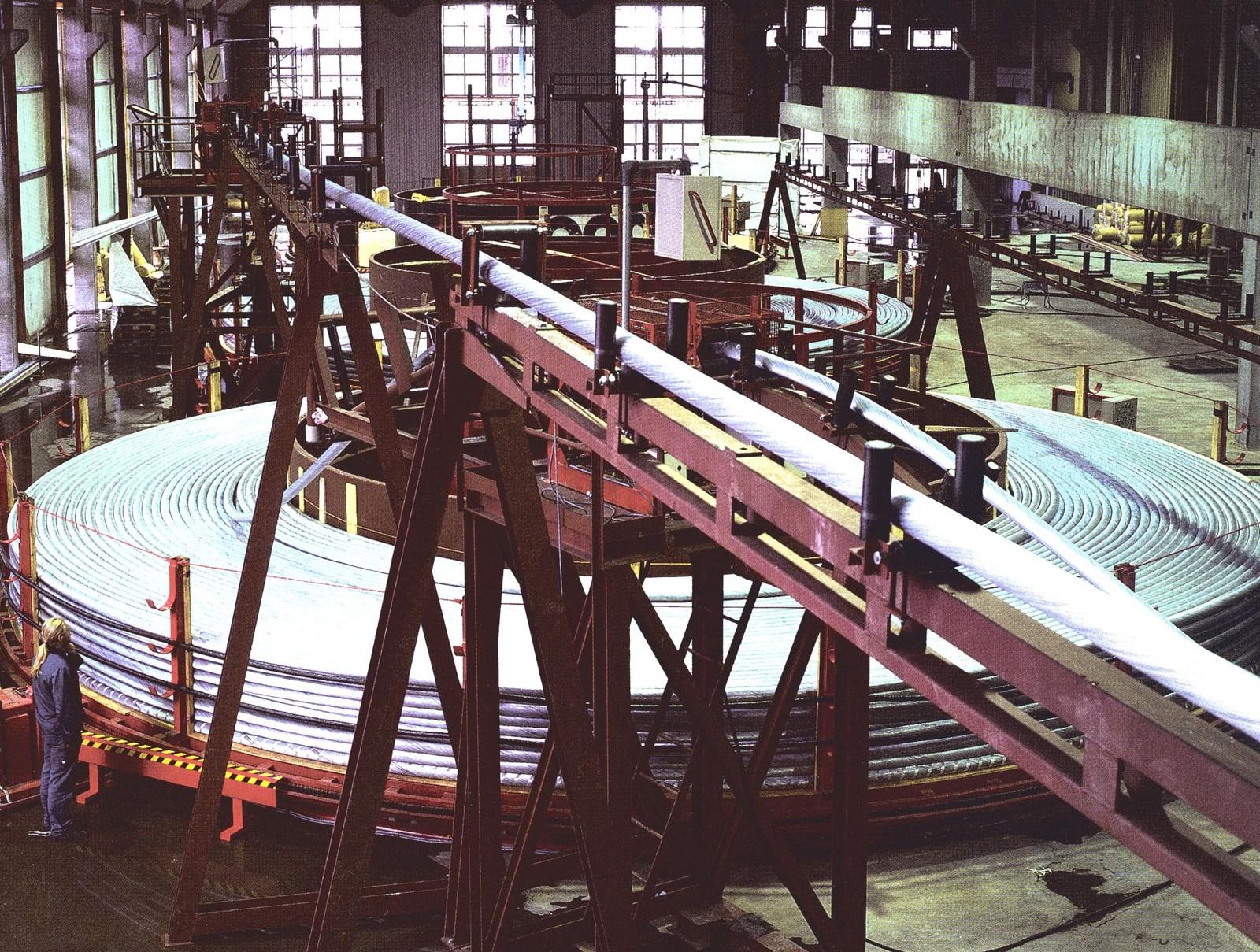 Moderne produksjonshall. År ukjent.
