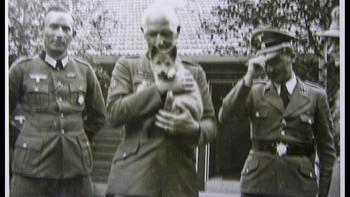 General Jodl med et kjæledyr og Terboven