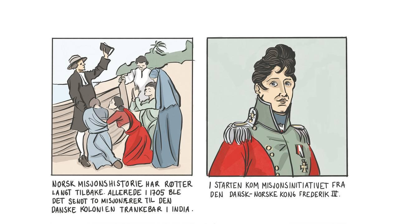 Illustrasjon fra tegneserieboken
