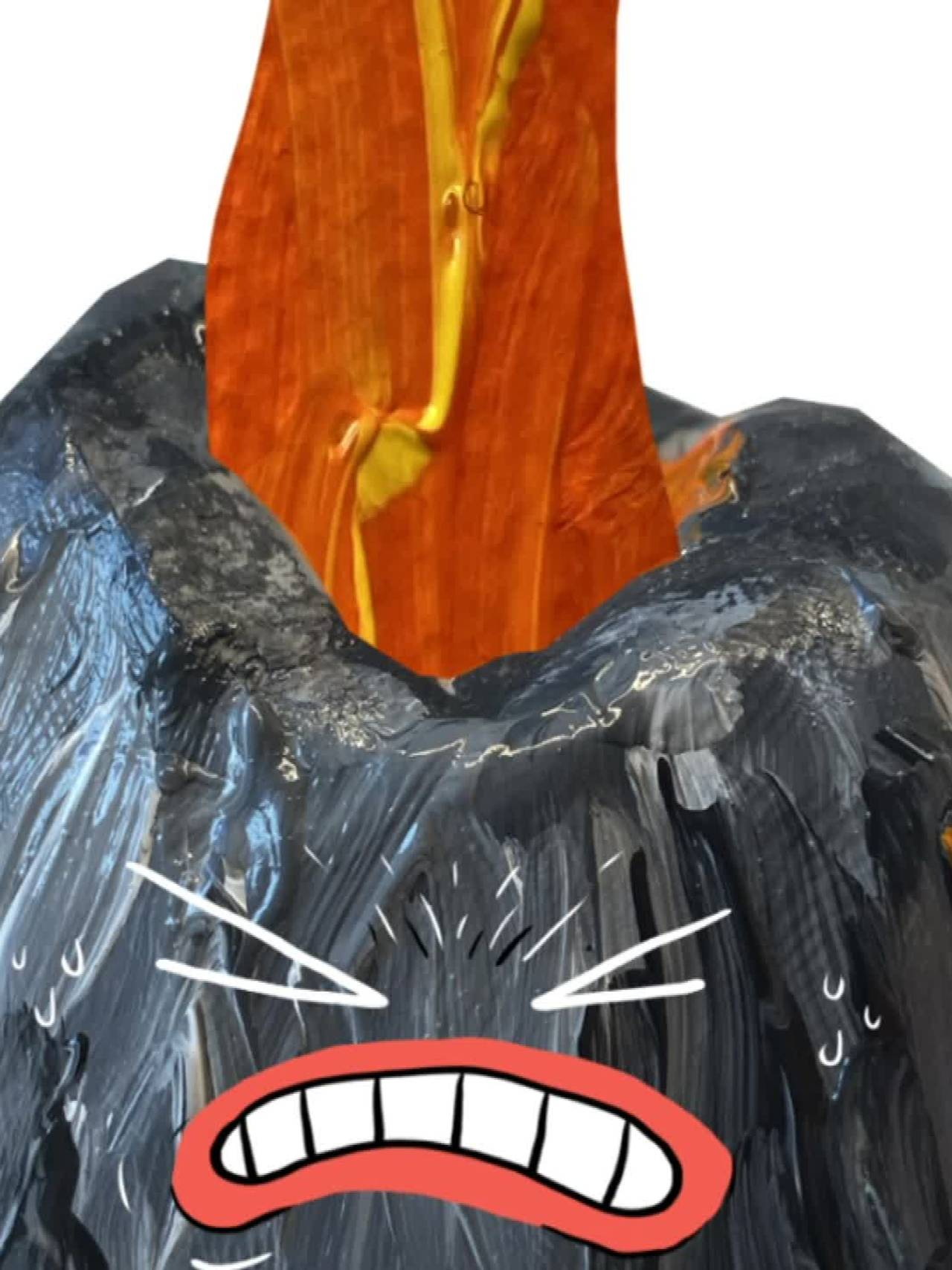 Illustrasjon - vulkan