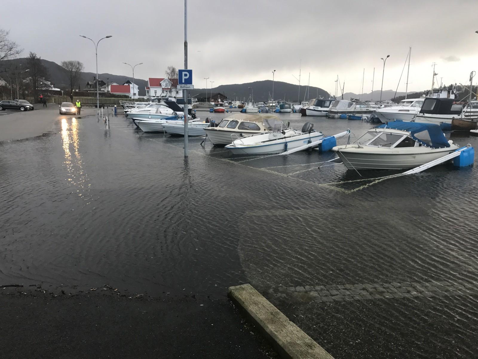 Stormflo på Jørpeland