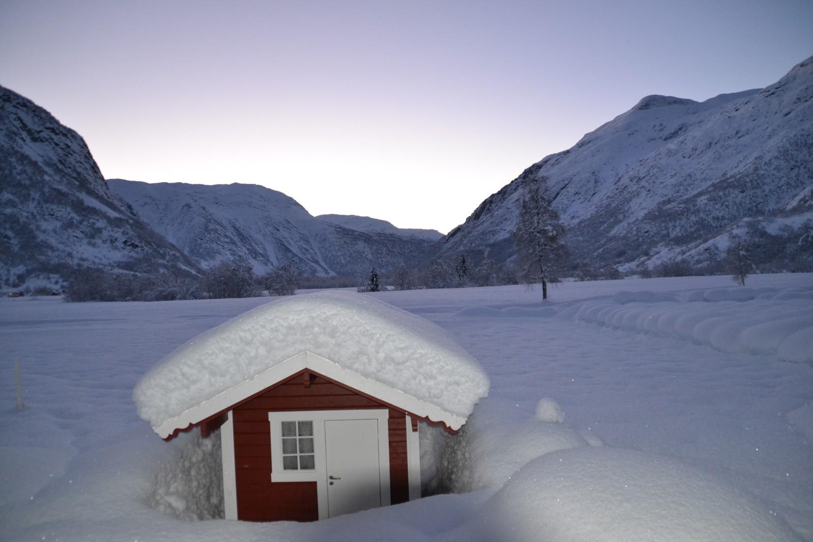 På Veitastrond var det -21 grader 1. juledag.