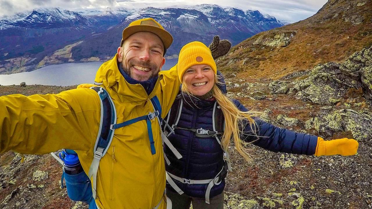 Frank og Heidi Tindvik på fjelltur i Vang i Valdres