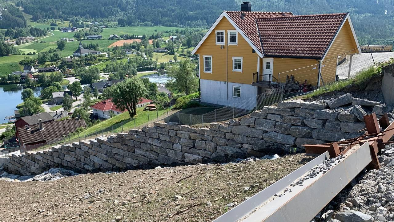 Huset til Bernt Kjøsnes juli 2020