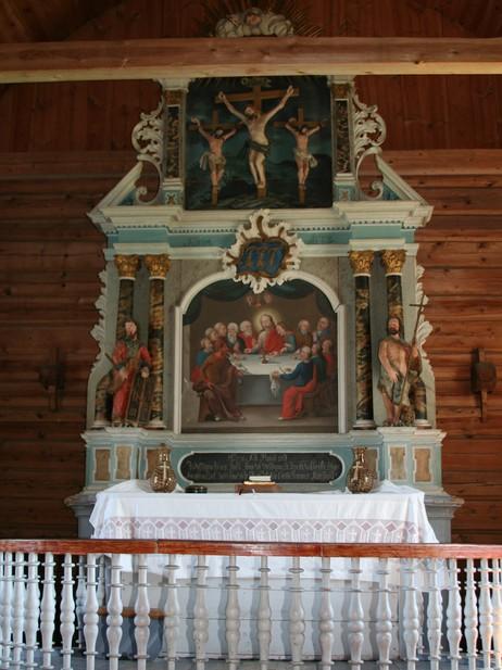 Altartavla frå 1772. Foto: Ottar Starheim, NRK.