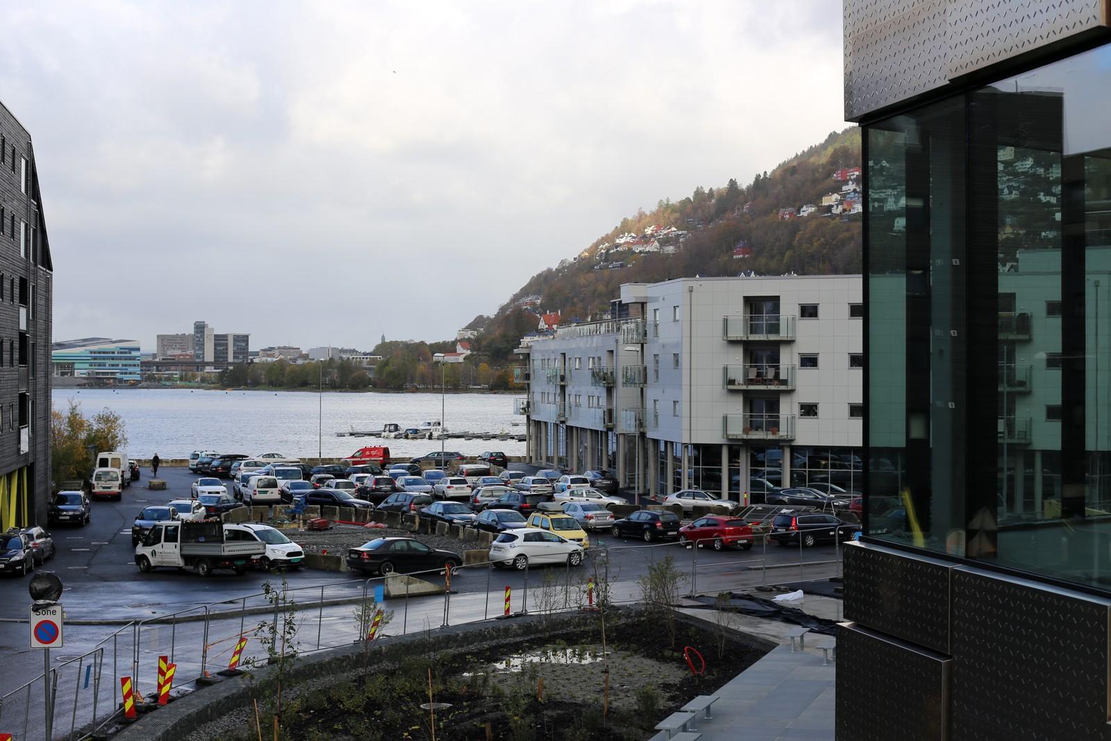 Utsikten fra andre etasje i Kunst- og designhøgskolen.