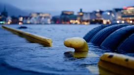 Flo i Bergen under ekstremværet Vidar - Foto: Kjell Jøran Hansen/NRK