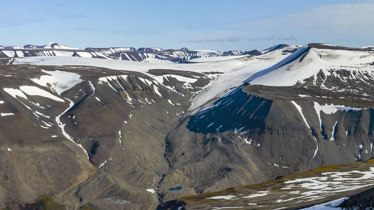Rieperbreen på Svalbard fotografert i 2019