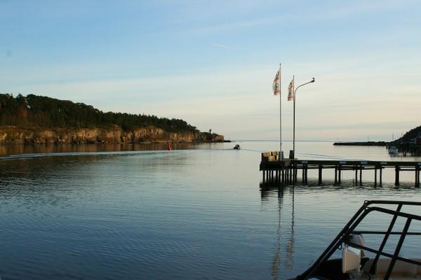 Langesundet mellom Langesund og Langøya - Foto: Helge Oland