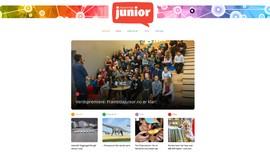 Bilde av nettsiden til Framtida junior som er den første nynorsk avisa i verda for barn.