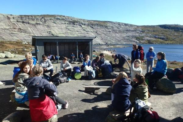 Knaben Leirskole på BUIN Fjellcamp -  Foto: Marianne Haugland