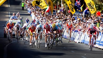 Innspurten i sykkel-VM 2010