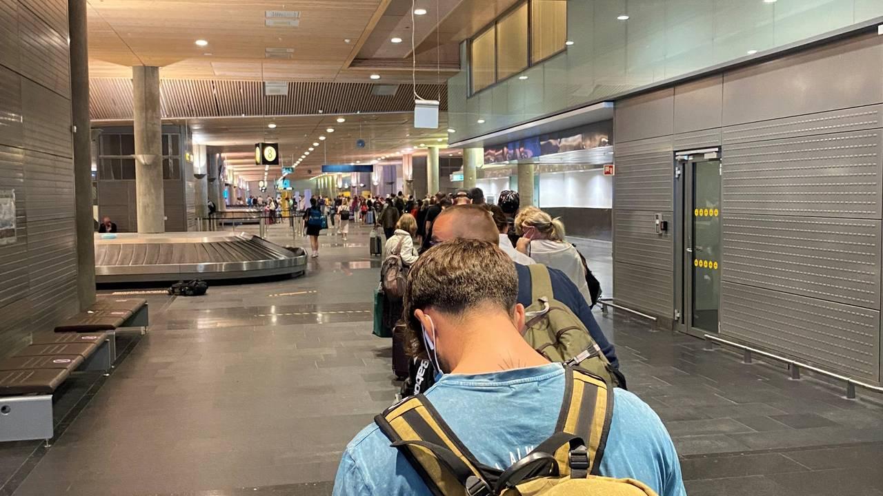 Kø på Oslo Lufthavn