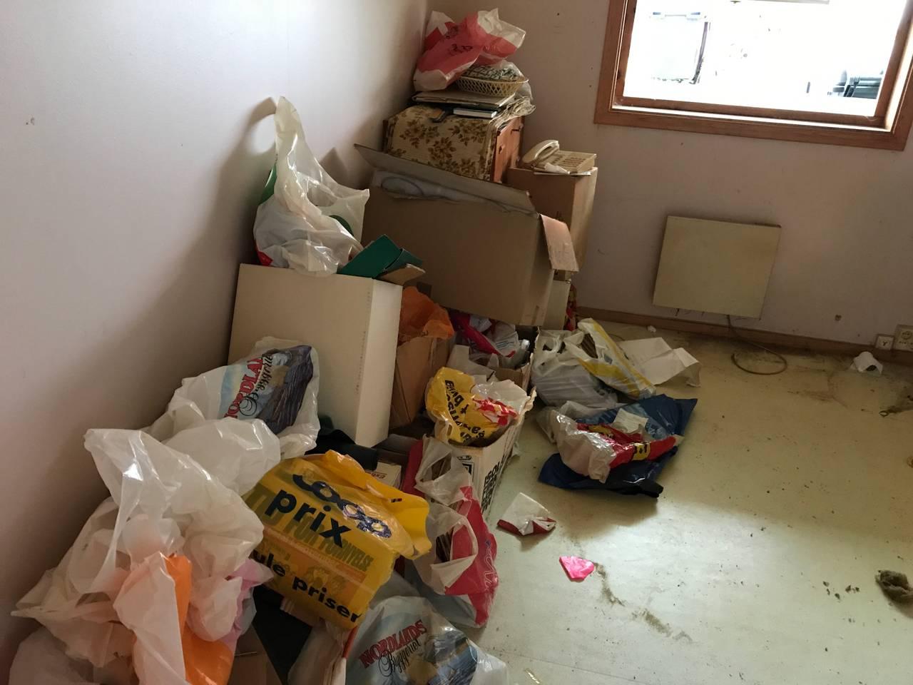 Søppel på soverom