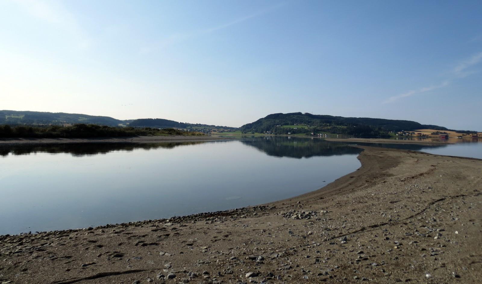 Rinnelva renner ut i Trondheimsfjorden