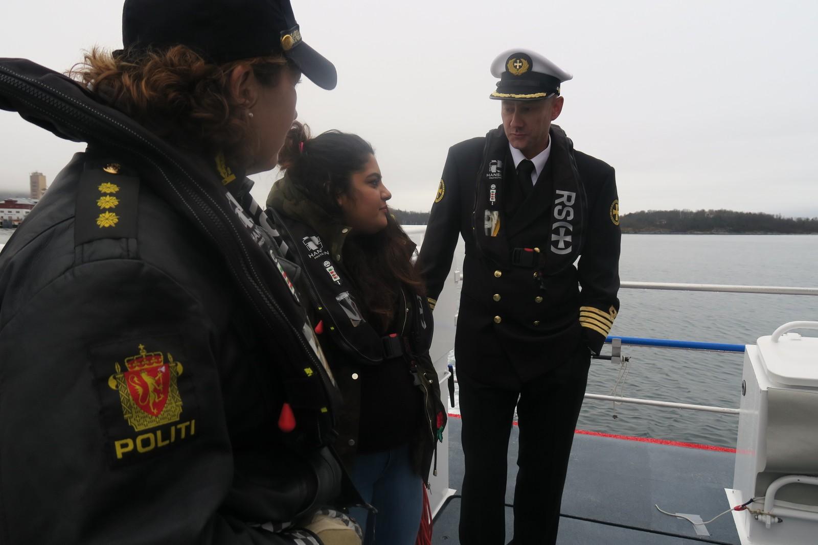 Fatima saman med Lars Solvik og Anne Marie Bruu.