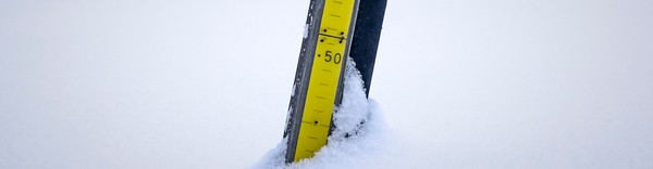 Snømåler i Epedalen - Foto: Juliane Kravik