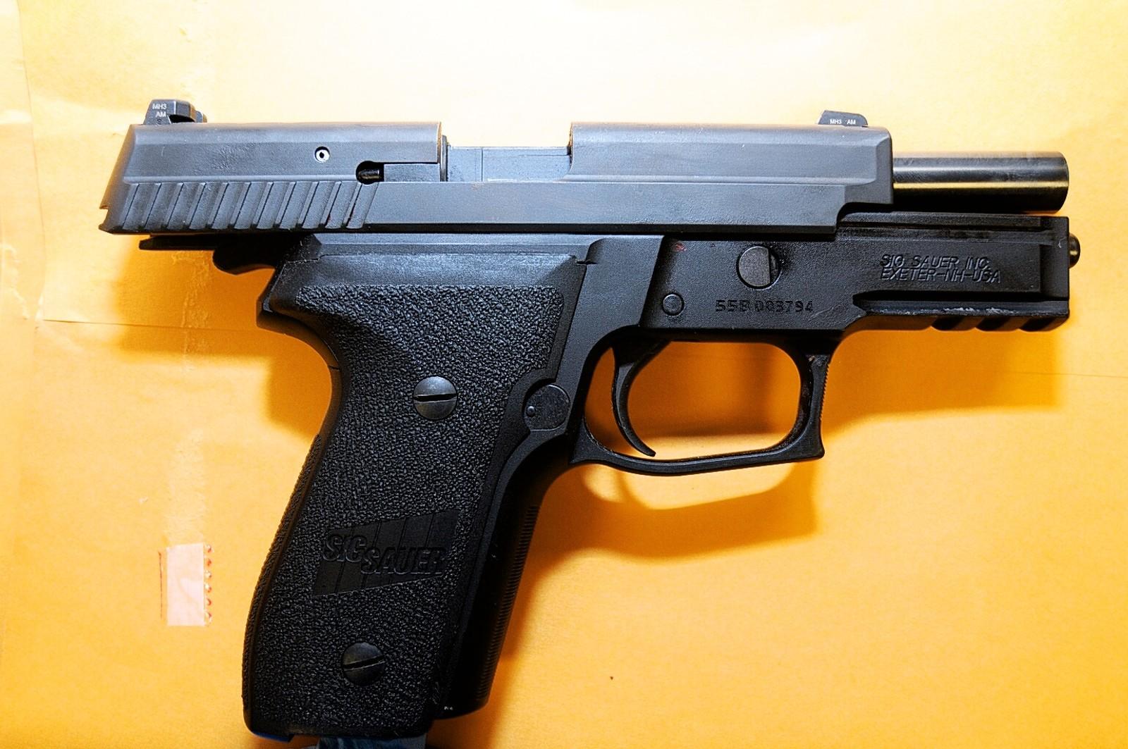 Tjenestevåpenet til Darren Wilson som han fyrte av 12 skudd med under jakten på Michael Brown.