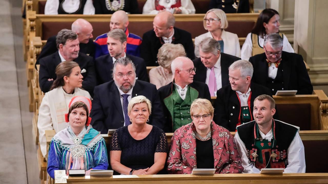 Aili Keskitalo under kronprinsesse Ingrid Alexandras konfirmasjon.