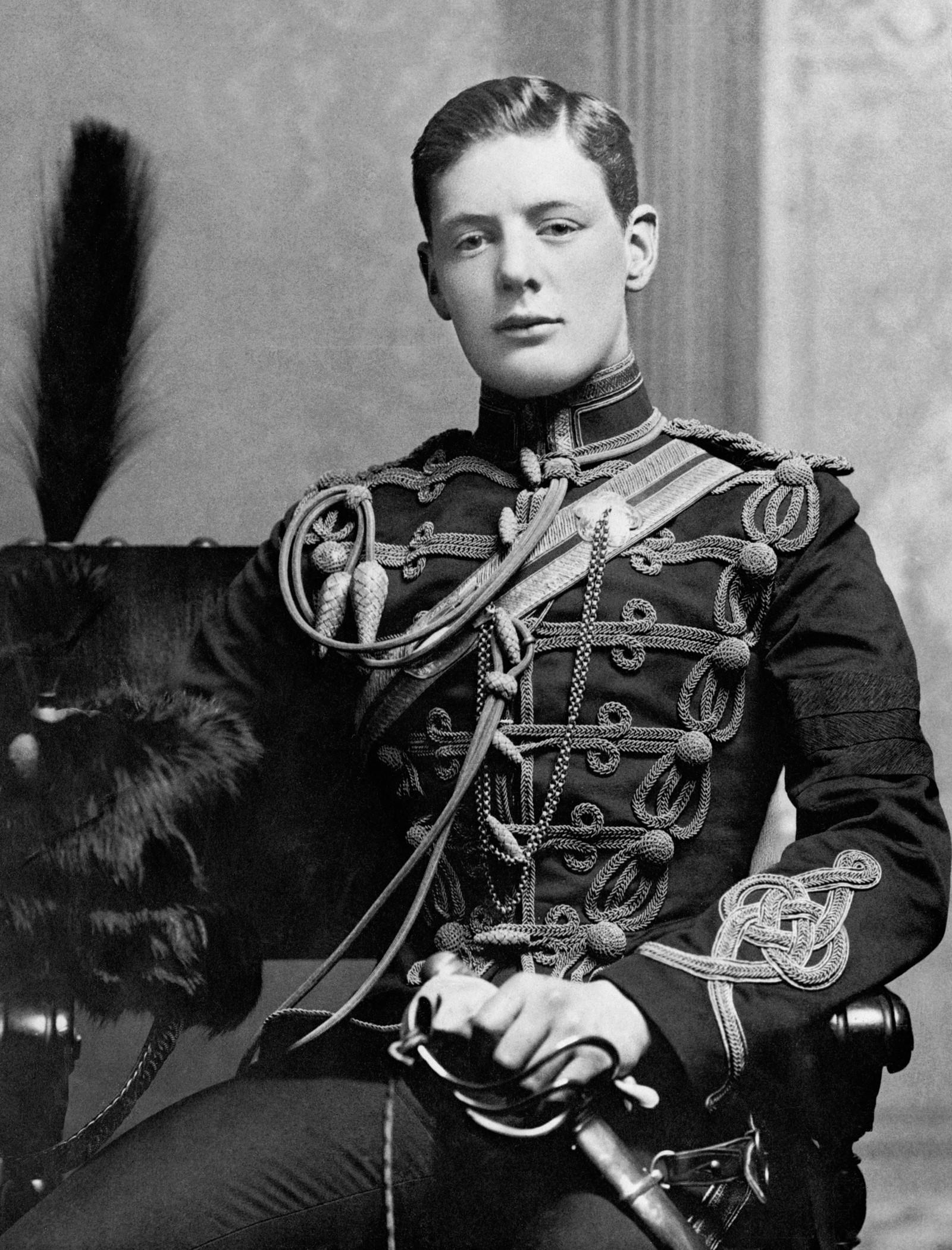 Løytnant Winston Churchill I 1895.