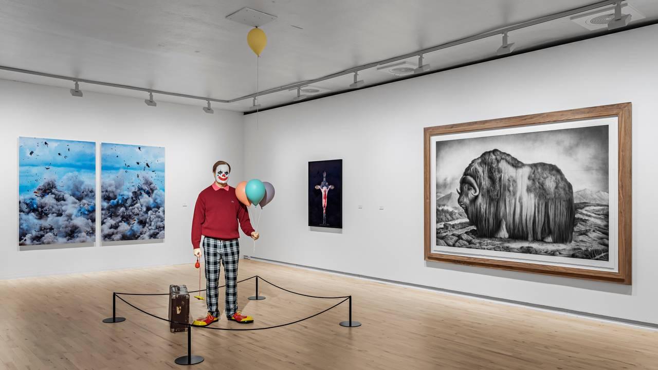VARIERTE UTTRYKK: Utstillingen inneholder mange slags uttrykk og sjangre som kan være spennende å se på for små og store.