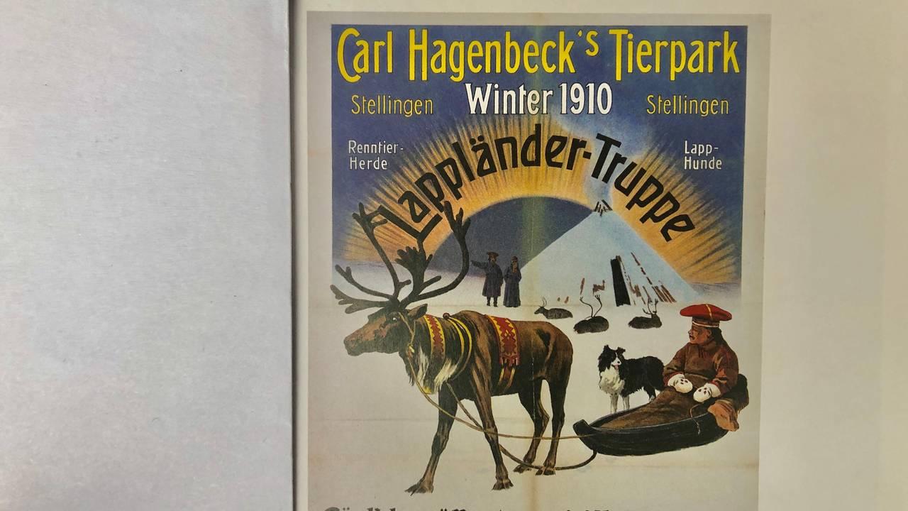 Plakat om samer på utstilling