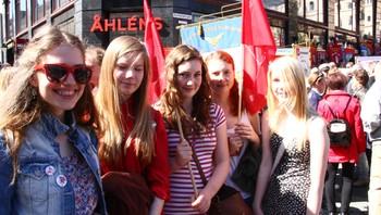 Sosialistisk Ungdom på Youngstorget 1. mai