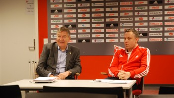 Styreleder i FFK Arne Erik Olsen og daglig leder Geir Bakken