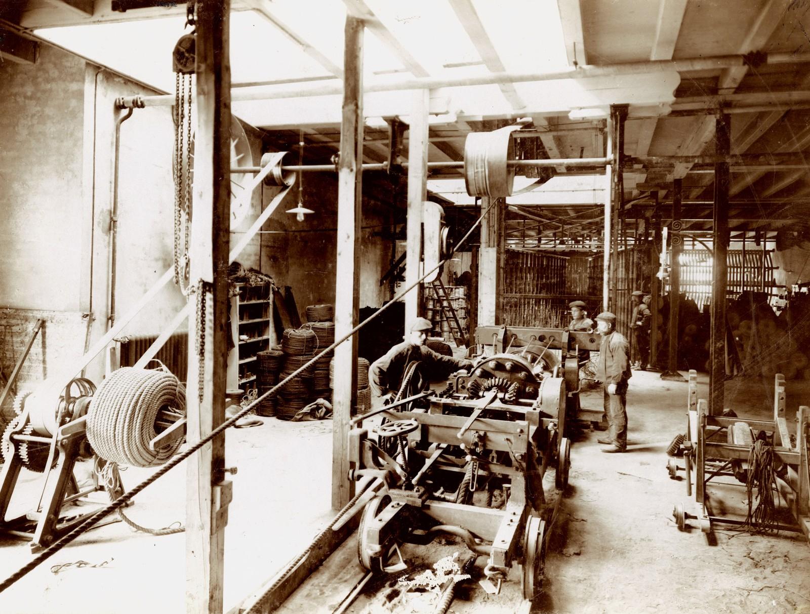 Langbanen etter brannen 1911. Fotograf ukjent