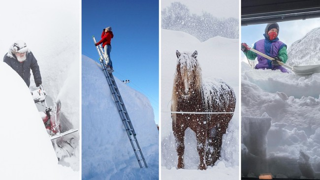 Masse snø i Nord-Norge
