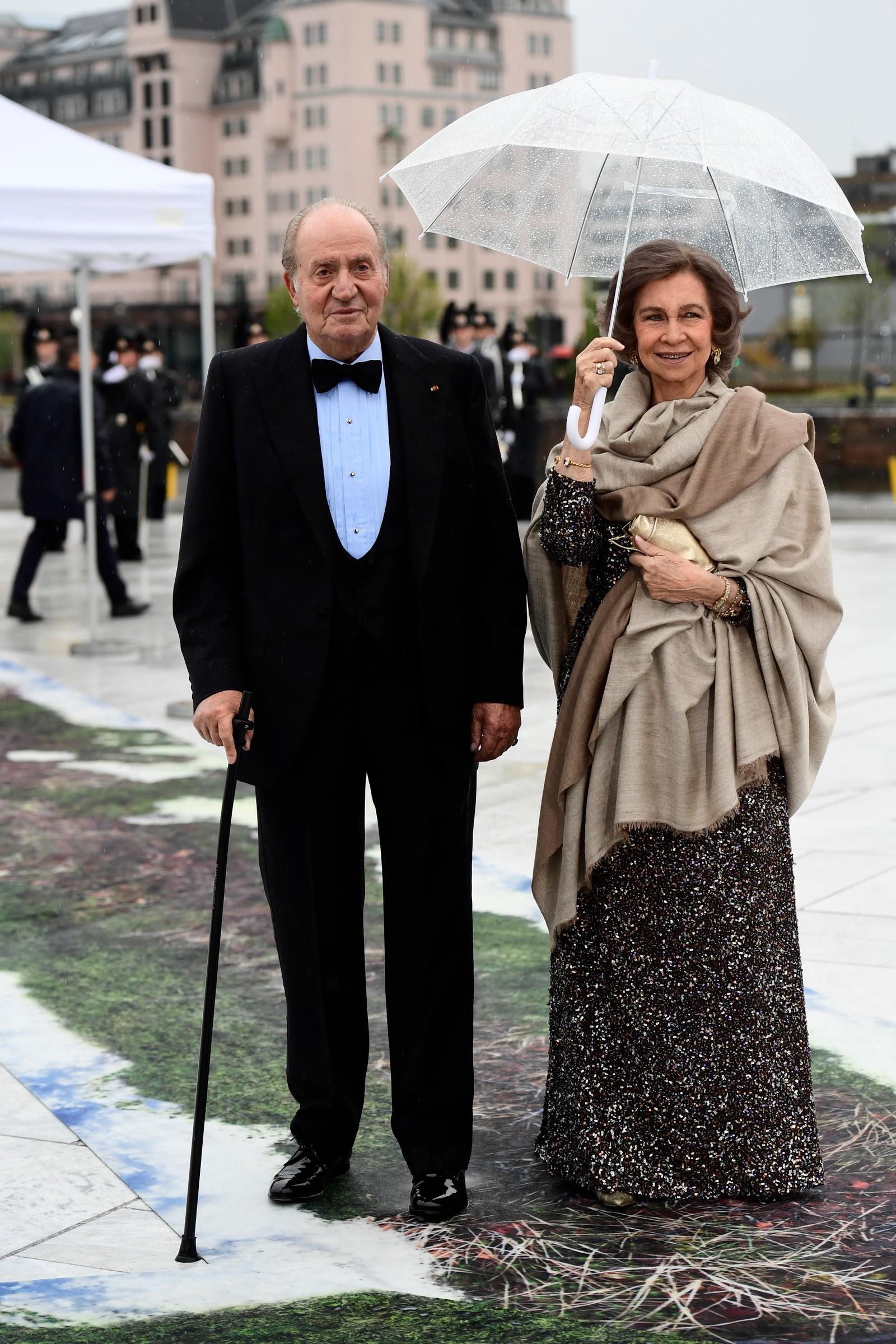 Spanias kong Juan Carlos abdiserte i 2014. Her ankom han med sin dronning Sofia.