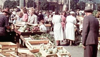 Grønnsaktorget i Trondheim 1941