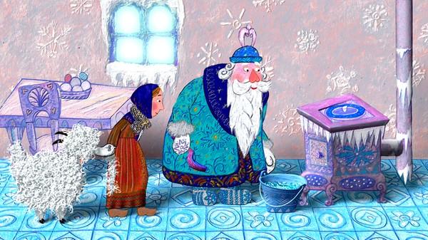 Fransk animasjonsfilm.       Alpene er hjemmet til magiske Fader Frost. Hans krefter er å lage snø.