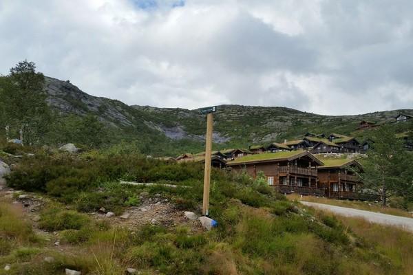 Turstart - ved Reinshommen hyttefelt -  Foto: Marianne Haugland