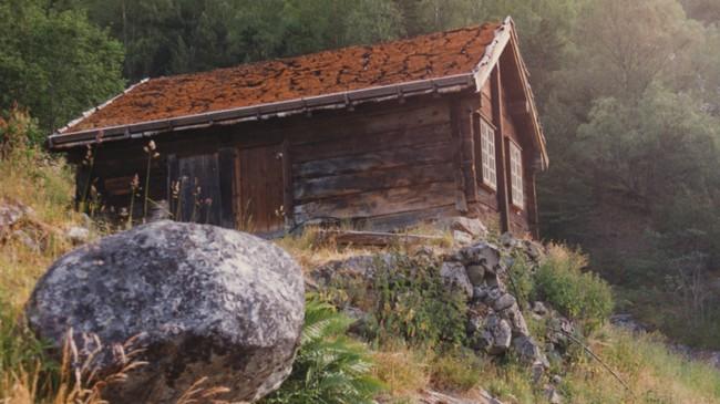 Eitt av husa på husmannsplassen Galdane. Foto © Oddkjell Bosheim.