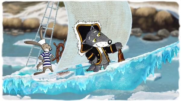 Norsk animasjonsfilm. Det er vår i skogen, og alt våkner til liv. Snøen smelter og trærne strekker seg etter en lang vinter. Isen går. Ulven og Haren befinner seg plutselig midt i elven flytende på et isflak, men gode venner får ikke panikk.