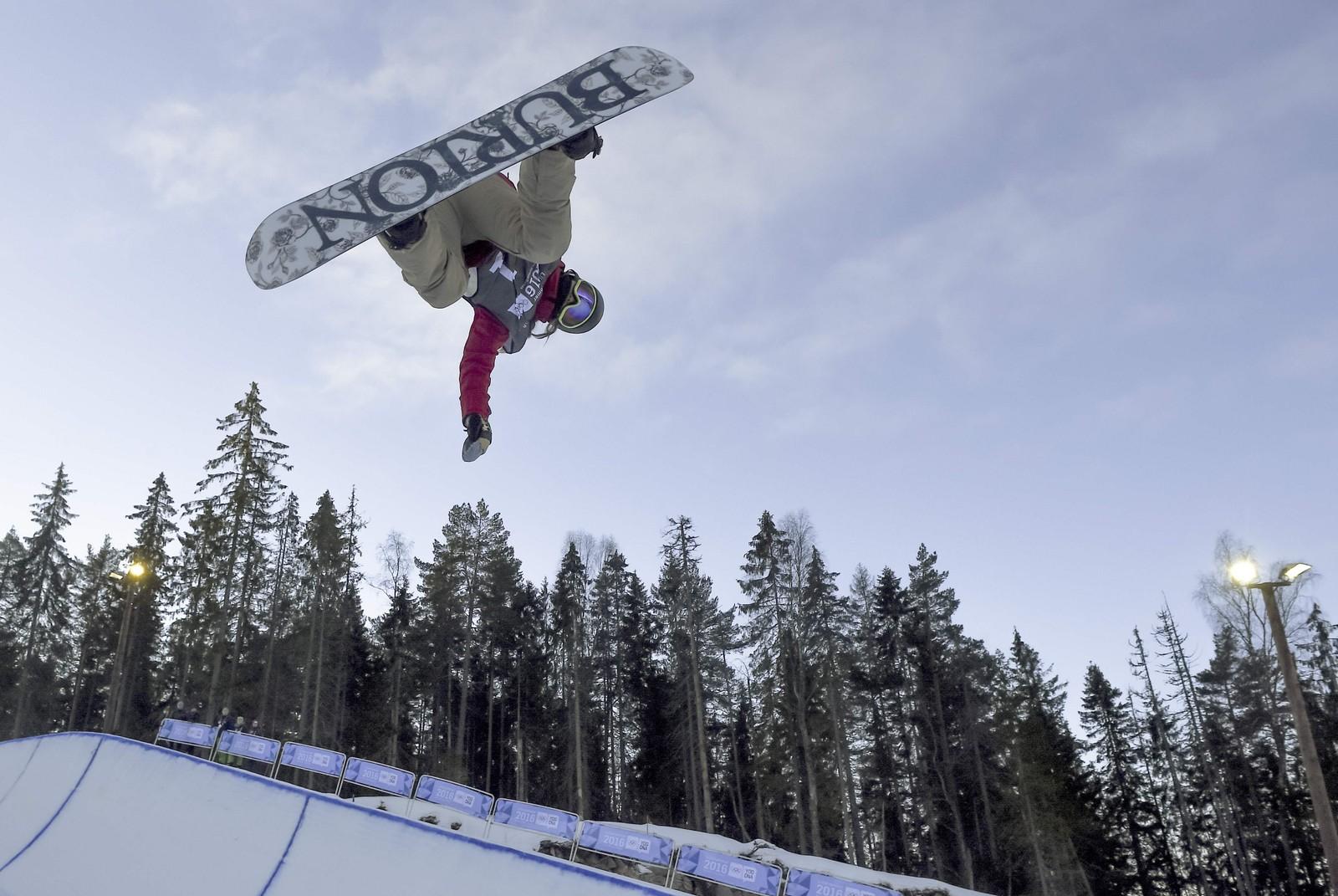 Chloe Kim fra USA vant gull under jentenes Snowboard Halfpipe-konkurranse i Oslo Vinterpark.
