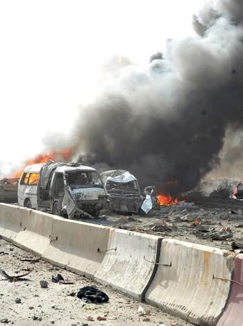 Bombeeksplosjon i Damaskus