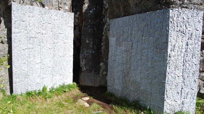 Skulptur i Moskenes. Foto: Billy Jacobsen, NRK 2009