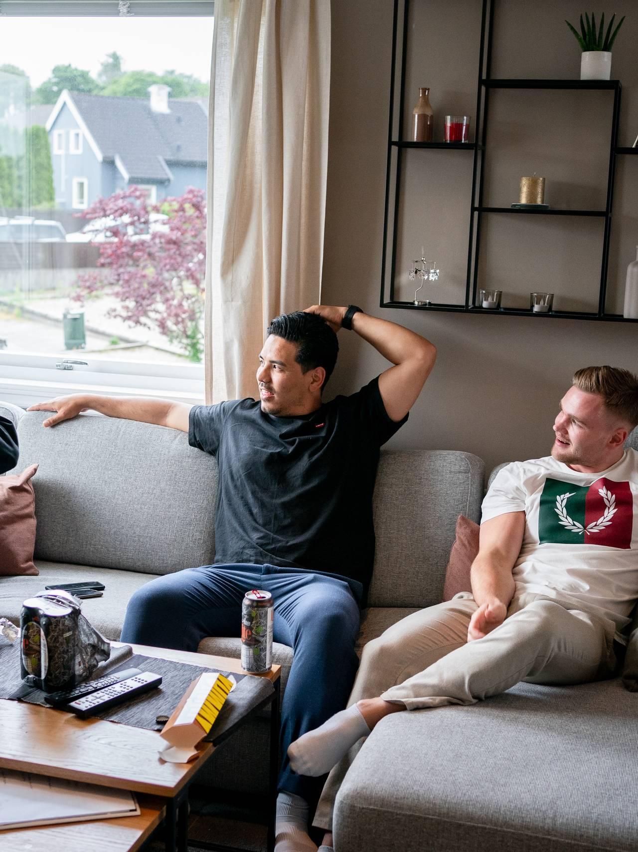 Jonas Bayat Augestad og hans venner.