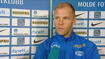 Eidur Gudjohnsen etter sin første trening med Molde.