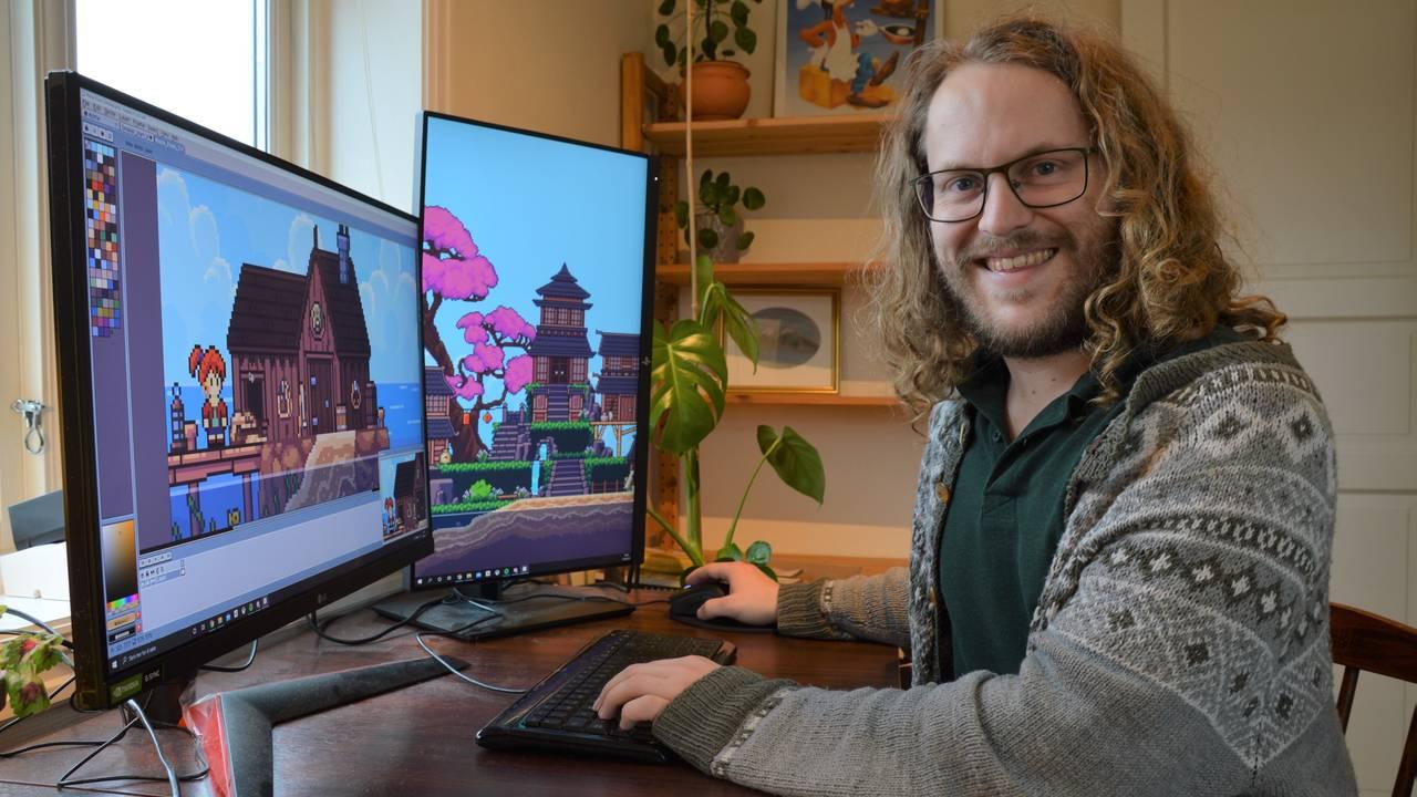 Jardar Solli utvikler dataspillet Seablip helt alene.