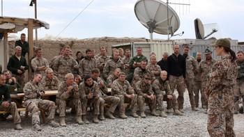 Den danske kronprinsessa besøkte danske soldater i Afghanistan