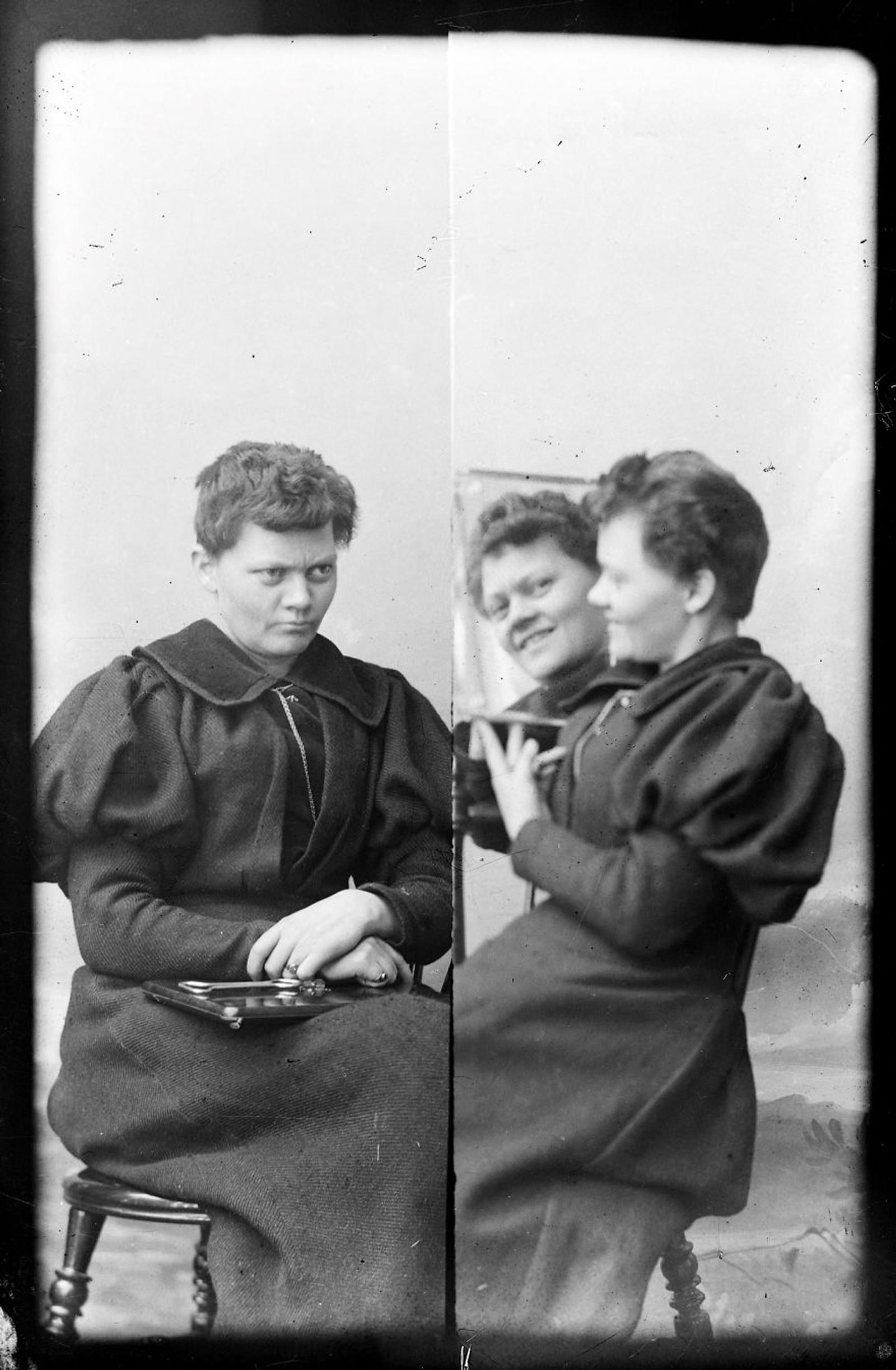 SPEIL: Marie Høeg. Bildet er tatt mellom 1869 og 1903.