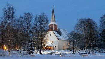 Ranem kirke i Overhalla på julaften