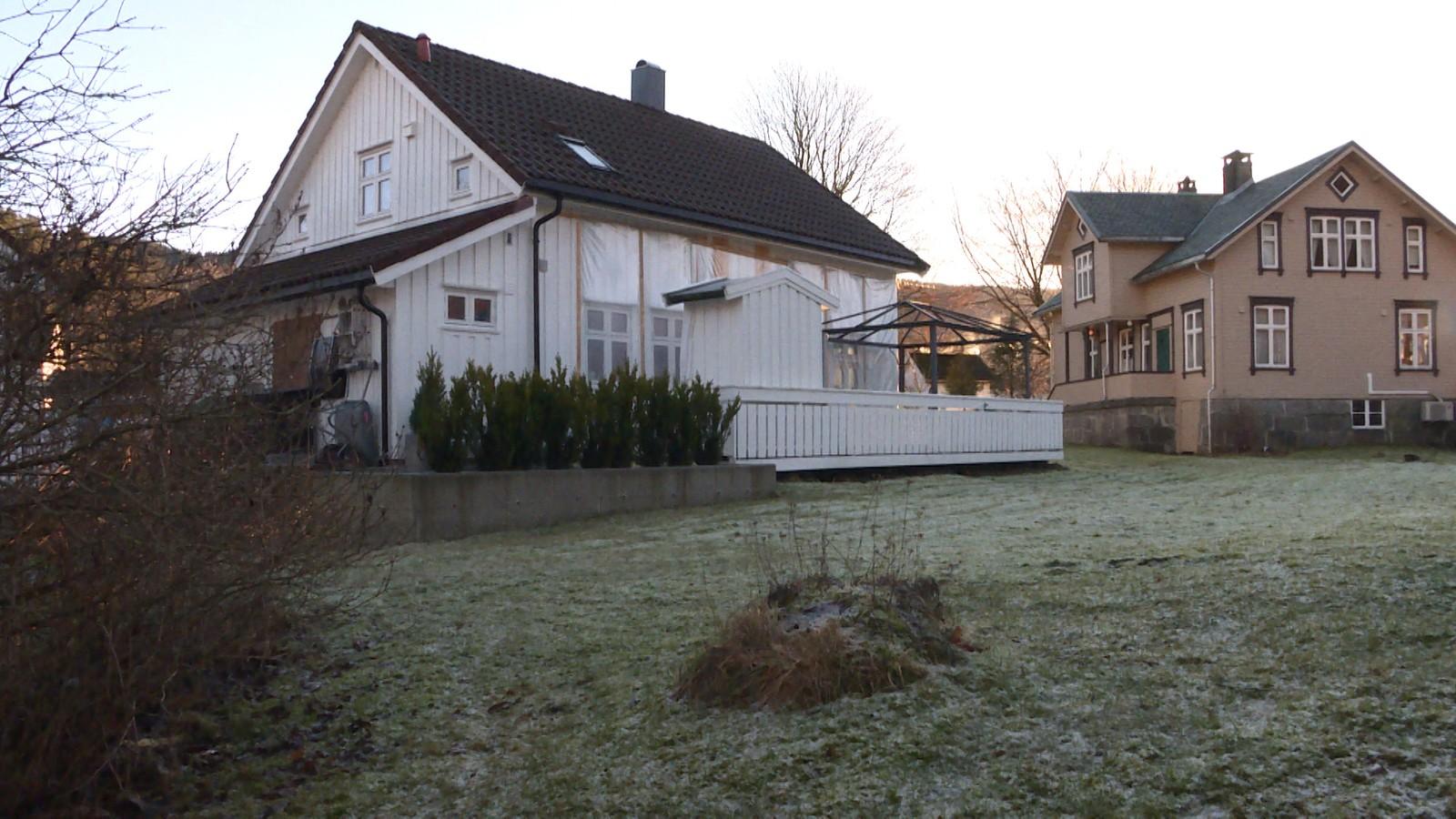 Huset fikk omfattende skader etter flommen.