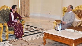 Suu Kyi møter Thein Sein